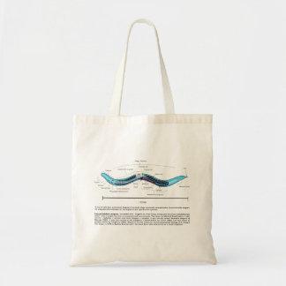 Nematode Roundworm Caenorhabditis Elegans Diagram Budget Tote Bag