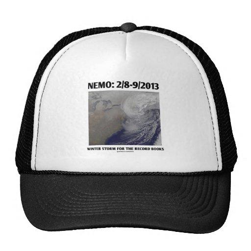 Nemo: 2/8-9/2013 Winter Storm Record Books Hats