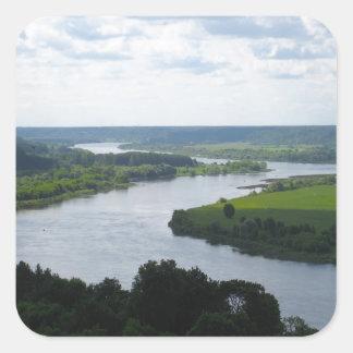 Nemunas River at Vilkija, LITHUANIA --- Square Sticker