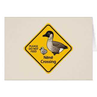 Nene Crossing Greeting Card