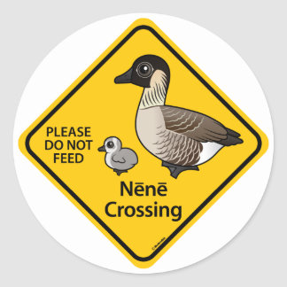 Nene Crossing Round Sticker
