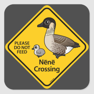 Nene Crossing Square Sticker
