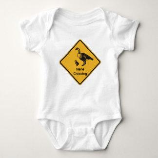 Nene Crossing, Traffic Warning Sign, Hawaii, USA Baby Bodysuit