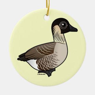 Nene Double-Sided Ceramic Round Christmas Ornament