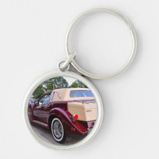 Neo-Classic Zimmer Sports Coupe Silver-Colored Round Key Ring