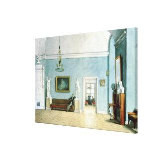 Neo-Classical Interior, c.1820 Canvas Print