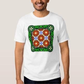 Neo Flower Pattern Big Tee Shirt
