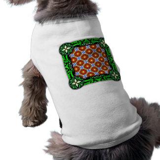 Neo Flower Pattern Small Doggie T-shirt