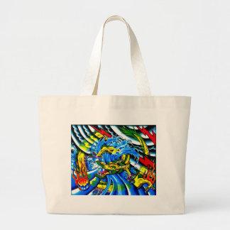 Neo Jap Dragon Tattoo Bags