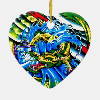 Neo Jap Dragon Tattoo Christmas Tree Ornaments