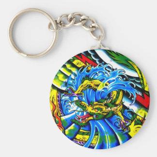 Neo Jap Dragon Tattoo Keychain