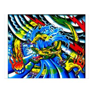 Neo Jap Dragon Tattoo Post Cards