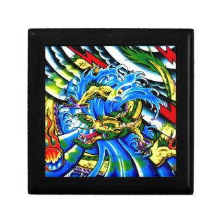 Neo Jap Dragon Tattoo Small Square Gift Box