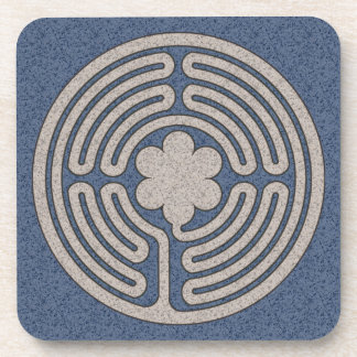 Neo-Medieval Labyrinth Cork Coasters