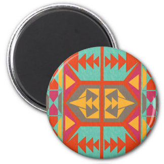 Neo Native Tribal 6 Cm Round Magnet