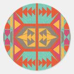 Neo Native Tribal Round Sticker