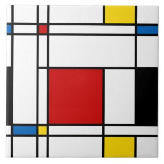 Neo-Plasticism Art Tile
