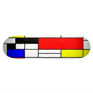 Neo-plasticism Mondrian style 1 Skateboard Deck