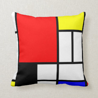 Neo-plasticism Mondrian style 3 modern Throw Pillow