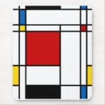 Neo-Plasticism Mondrian Style Mouse Pad
