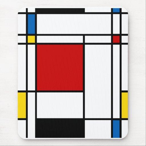 Neo-Plasticism Mondrian Style Mouse Pads