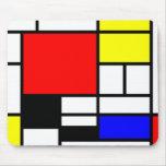 Neo-plasticism Mondrian style Mousemat