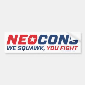 Neocon Chickenhawk Logo Bumper Sticker