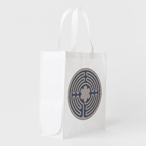 NeoMedieval Labyrinth Reusable Bag Reusable Grocery Bags