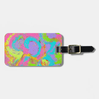 Neon Abstract-Abstract Art Brushstrokes Luggage Tag