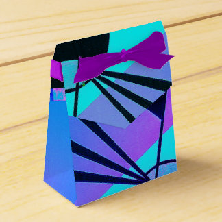 Neon abstract favour box