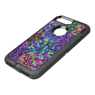Neon Abstract Pattern OtterBox Defender iPhone 8 Plus/7 Plus Case
