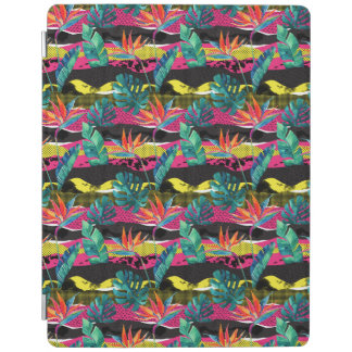 Neon Abstract Tropical Texture Pattern iPad Cover
