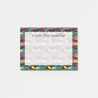 Neon Abstract Tropical Texture Pattern Post-it Notes