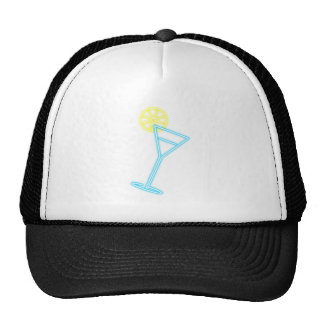 Neon advertisement cocktail neon sign hat