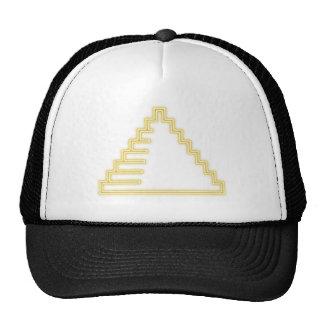 Neon advertisement neon sign pyramid pyramid trucker hat