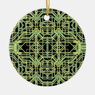 Neon Aeon 8 Round Ceramic Decoration