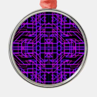 Neon Aeon 9 Silver-Colored Round Decoration
