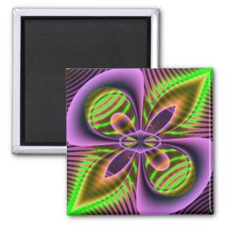 neon alien fridge magnet