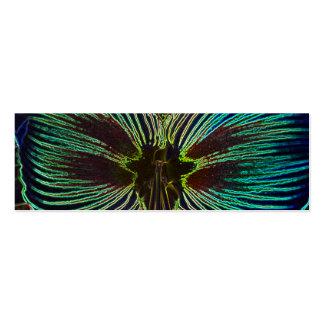 Neon Amaryllis Bookmark Business Card