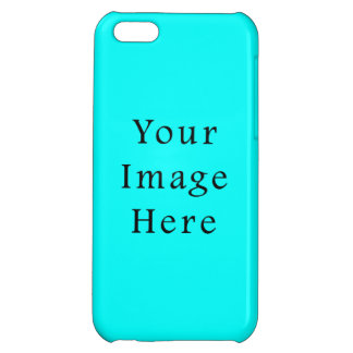 Neon Aqua Blue Bright Turquoise Color Trend Blank iPhone 5C Cover