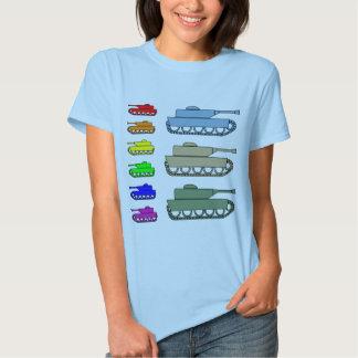 Neon Army Tanks - Pop Art