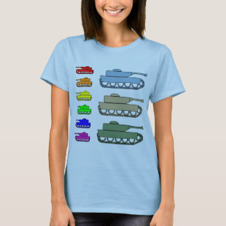 Neon Army Tanks - Pop Art