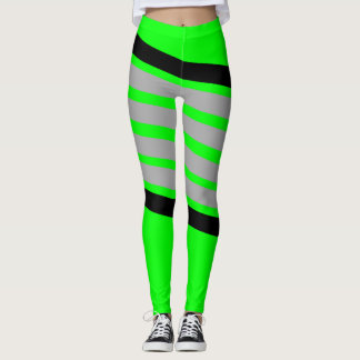 Neon Athletic stripes Leggings