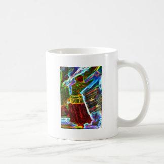 Neon Aura Veil Dancer Coffee Mug