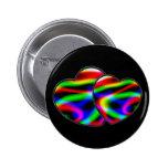 Neon Aurora Hearts 6 Cm Round Badge