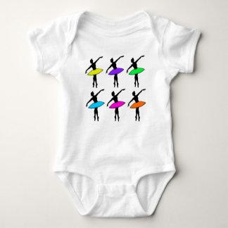 Neon Ballerina Dancer Dance Teacher Ballet Pointe Baby Bodysuit