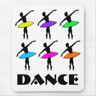 Neon Ballerinas Ballet Tutu Dance Teacher Pointe Mouse Mat