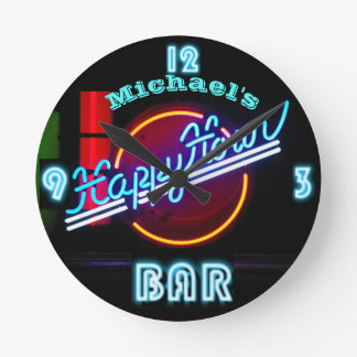 Neon BAR Clock | Custom Happy Hour Den Mancave