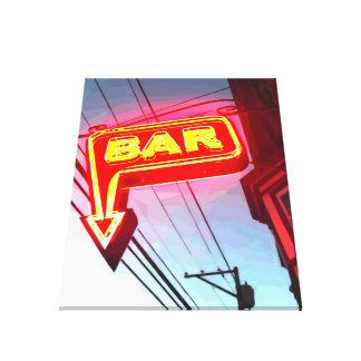 Neon Bar Gallery Wrapped Canvas