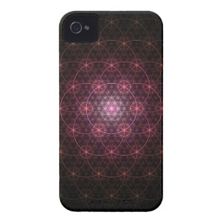 Neon Black Flower of Life iPhone 4 Cover